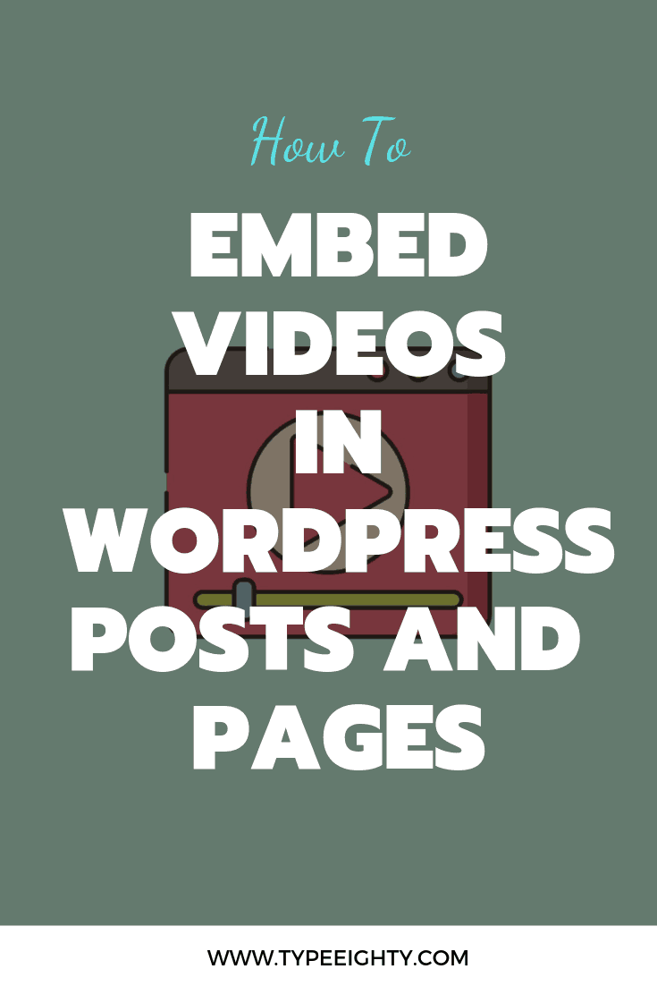 Embedding video in your post is a great technique to increase user engagement and your average dwell time. It works similarly as bucket brigade — in writing.In this post, I'm going to show you how to embed videos in WordPress posts and pages and what to look after when things aren't working.